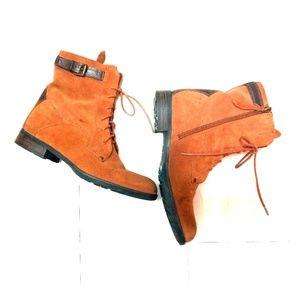 Franco Sarto mid calf leather boots sz 8